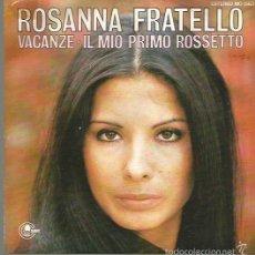 Discos de vinilo: ROSANNA FRATELLO SINGLE SELLO CARNABY AÑO 1975 EDITADO EN ESPAÑA PROMOCIONAL. Lote 60528931