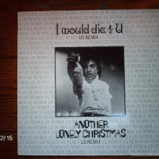 Discos de vinilo: PRINCE AND THE REVOLUTION - I WOULD DIE 4 U + ANOTHER LONELY CHRISTMAS . Lote 60545447