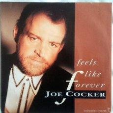 Discos de vinilo: JOE COCKER: FEELS LIKE FOREVER, SINGLE CAPITOL 20 4694 7, 1992. SELLO PROMO EN CARPETA. M/NM. Lote 60573967