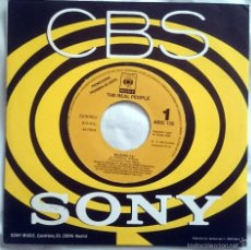 Discos de vinilo: THE REAL PEOPLE: BELIEVER, SINGLE PROMOCIONAL CBS/SONY ARIC 133, SPAIN, 1992. UNA CARA. MINT. INDIE.. Lote 60577427