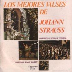 Discos de vinilo: LOS MEJORES VALSES DE JOHANN STRAUSS - ORQUESTA POPULAR VIENESA - DIRECTOR: HANS HAGEN. Lote 60577699