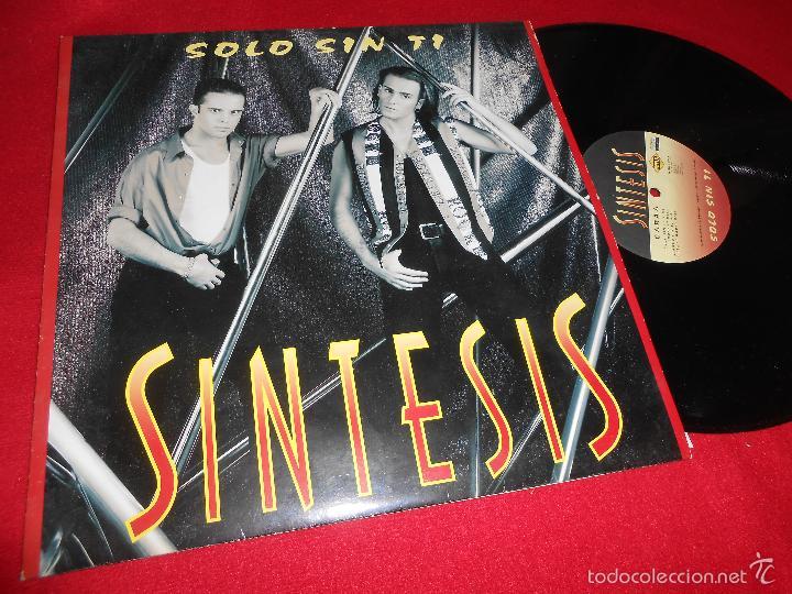 SINTESIS SOLO SIN TI +3 12 MX 1994 MAX MUSIC SYNTH TECNO POP NACIONAL (Música - Discos de Vinilo - Maxi Singles - Grupos Españoles de los 90 a la actualidad)