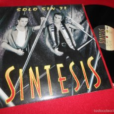 Discos de vinilo: SINTESIS SOLO SIN TI +3 12 MX 1994 MAX MUSIC SYNTH TECNO POP NACIONAL. Lote 227270750
