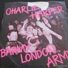 Discos de vinilo: CHARLIE HARPER (UK SUBS) - BARMY LONDON ARMY - SN - EDICION INGLESA DEL AÑO 1980 - VINILO AMARILLO.. Lote 60602419