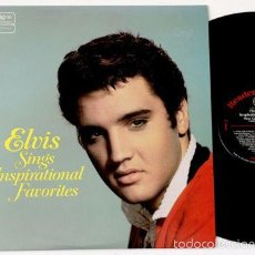Discos de vinilo: ELVIS PRESLEY - ELVIS SINGS INSPIRATIONAL FAVORITES !! RARA EDIC ORG USA, IMPECABLE !!. Lote 60622795