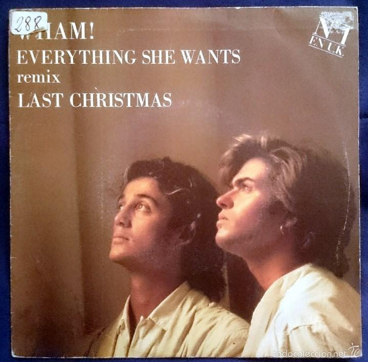 Wham Last Christmas.Wham Last Christmas Single Promo Epic Epc 653 185 7 Spain 1988 Vg Vg Pegatina En Portada