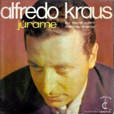 Discos de vinilo: ALFREDO KRAUS - JURAME / POR ESTO TE QUIERO / MARCHITA EL ALMA - CARILLON - 1968. Lote 61781454