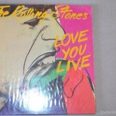 Discos de vinilo: THE ROLLING STONES – LOVE YOU LIVE - DOBLE LP EN DIRECTO. Lote 60649507