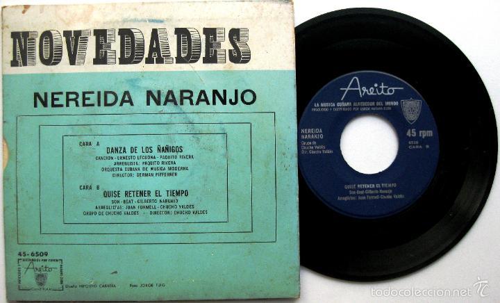 Discos de vinilo: Nereida Naranjo (Paquito Rivera, Chucho Valdes) - Danza De Los Ñañigos - Single Areito BPY - Foto 2 - 60656467