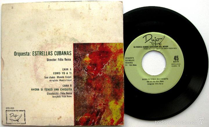 Discos de vinilo: Orquesta Estrellas Cubanas (Felix Reina, Manolo Coipel) - Como Yo A Ti - Single Dujo Egrem BPY - Foto 2 - 60657271