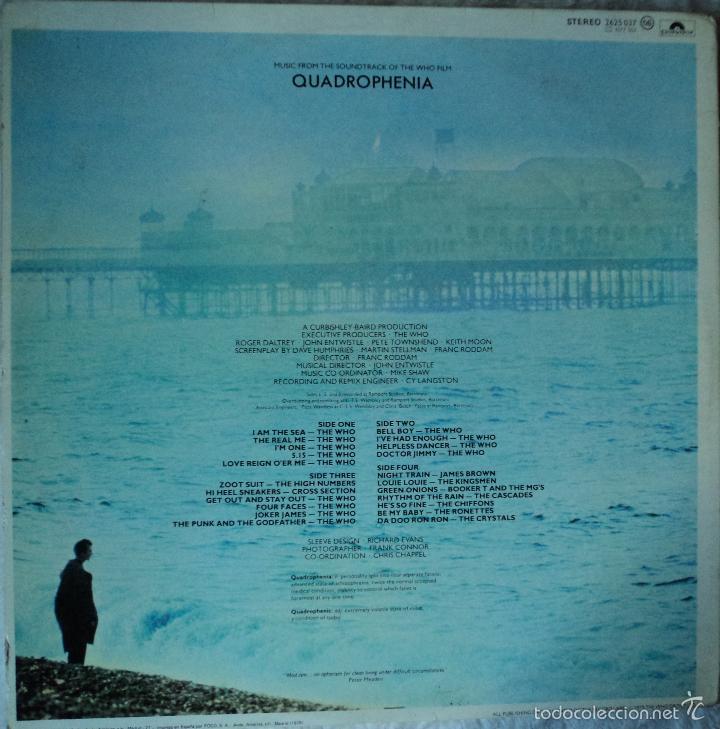 Discos de vinilo: The Who - Quadrophenia (BSO) - Edición de 1979 de España - Doble - Foto 2 - 60660707