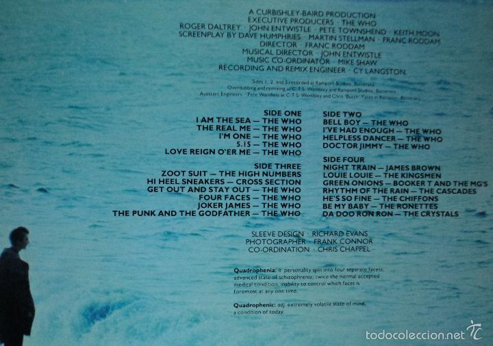 Discos de vinilo: The Who - Quadrophenia (BSO) - Edición de 1979 de España - Doble - Foto 3 - 60660707
