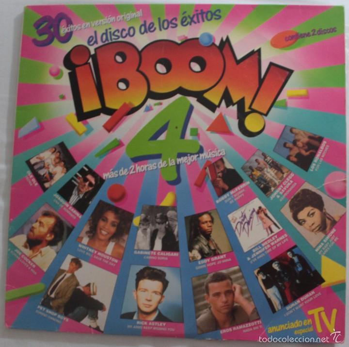 DISCO VINILO LP (2) ¡BOOM 4! EL DISCO DE LOS ÉXITOS -OLÉ OLÉ, RICK ASTLEY, DURAN DURAN, ILEGALES.. - (Música - Discos - LP Vinilo - Otros estilos)