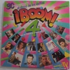 Discos de vinilo: DISCO VINILO LP (2) ¡BOOM 4! EL DISCO DE LOS ÉXITOS -OLÉ OLÉ, RICK ASTLEY, DURAN DURAN, ILEGALES.. -. Lote 60670391