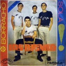 Discos de vinilo: LOS BRINCOS. BORRACHO / SOLA. ZAFIRO / NOVOLA, 1965.. Lote 60675451