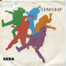 Discos de vinilo: STARSHIP / SARA HEARTS OF THE WORLD (SINGLE 1985). Lote 60710415
