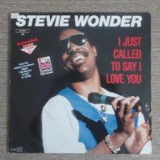Discos de vinilo: STEVIE WONDER - I JUST CALLED TO SAY I LOVE YOU SINGLE VINILO. Lote 60711131
