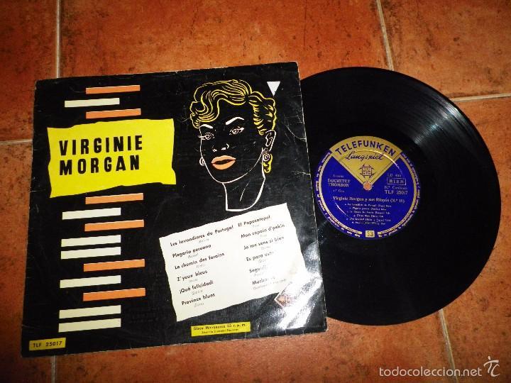VIRGINIE MORGAN Y SUS RITMOS Nº 10 LP VINILO 10 PULGADAS 12 TEMAS VINTAGE (Música - Discos - LP Vinilo - Orquestas)