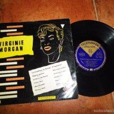 Discos de vinilo: VIRGINIE MORGAN Y SUS RITMOS Nº 10 LP VINILO 10 PULGADAS 12 TEMAS VINTAGE. Lote 60724811