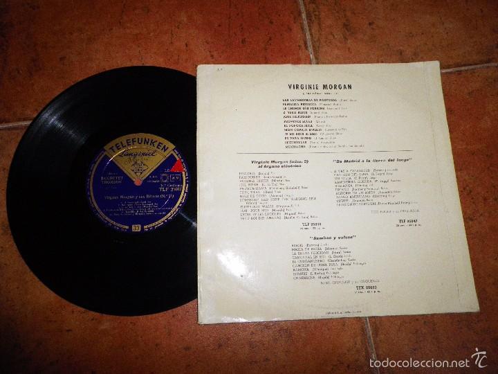 Discos de vinilo: VIRGINIE MORGAN Y SUS RITMOS Nº 10 LP VINILO 10 PULGADAS 12 TEMAS VINTAGE - Foto 2 - 60724811