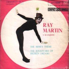 Discos de vinilo: RAY MARTIN Y SU ORQUESTA - THE MIME'S THEME - SINGLE RCA PROMO 1961 , RF-1267. Lote 60742063