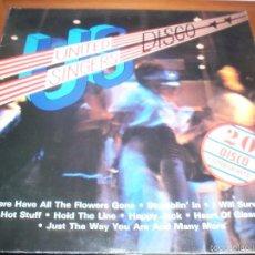 Discos de vinilo: DOBLE LP UNITED SINGERS DISCO. VARIOS ARTISTAS. EDICION POLYDOR DE 1979 (SUECIA). DOBLE PORTADA. Lote 60790007