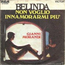 Discos de vinilo: GIANNI MORANDI - BELINDA / NON VOGLIO INNAMORARMI PIU´ . Lote 60793075