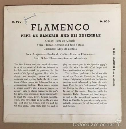Discos de vinilo: FLAMENCO - PEPE DE ALMERIA AND HIS ENSEMBLE - CONCERT HALL - Foto 2 - 60816475