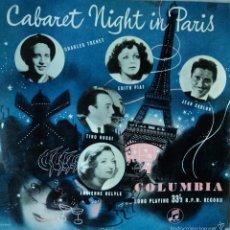 Discos de vinilo: CABARET NIGHT IN PARIS - VARIOS FRANCESES - EDICIÓN DE ENGLAND - 10 PULGADAS. Lote 60821655