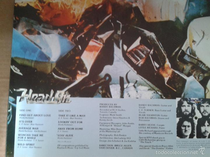 Discos de vinilo: BACHMAN TURNER OVERDRIVE ** HEAD ON ** MERCURY SPAIN 1976 ** PORTADA DOBLE *colección privada - Foto 5 - 60840383