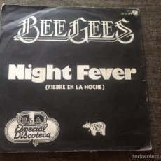 Disques de vinyle: BEE GEES - NIGHT FEVER 1978. Lote 60857399