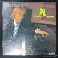 Discos de vinilo: LP. RICHARD CLAYDERMAN. A COMO AMOR. 1978. Lote 60859399