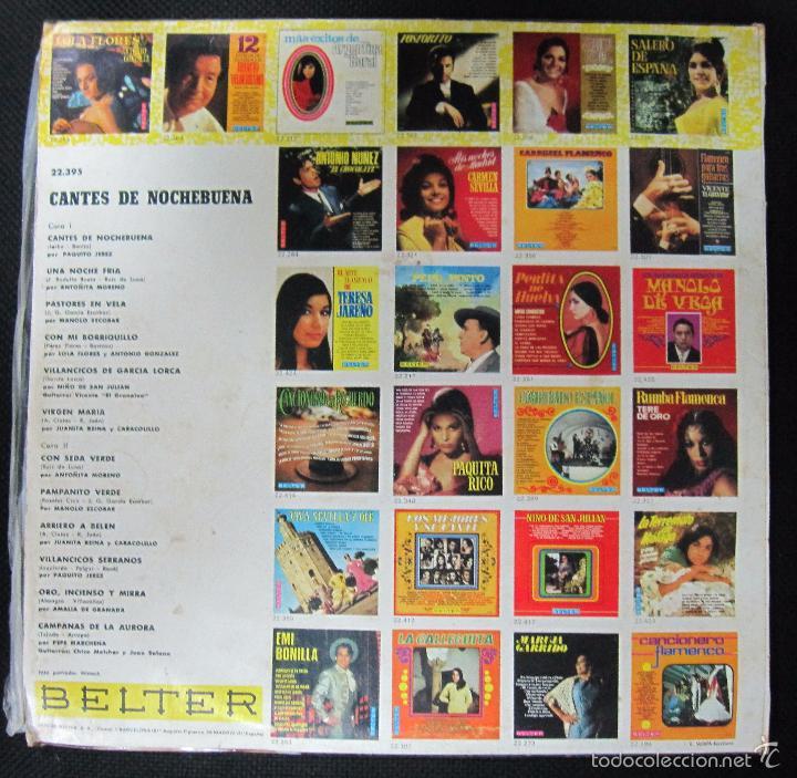 Discos de vinilo: LP. CANTES DE NOCHEBUENA. DISCOS BELTER. - Foto 2 - 60861099