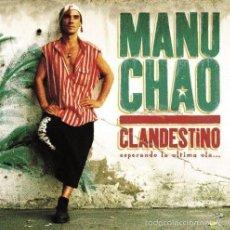 Discos de vinilo: 2LP MANU CHAO CLANDESTINO VINILO MANO NEGRA. Lote 100509772