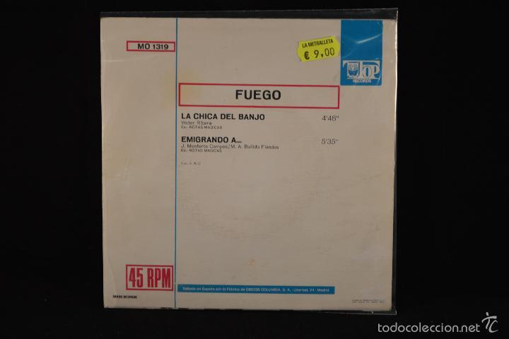 Discos de vinilo: FUEGO - LA CHICA DEL BANJO / EMIGRANDO A... - SINGLE - Foto 2 - 60868051