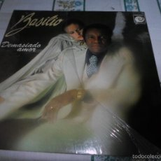 Discos de vinilo: BASILIO DEMASIADO AMOR PORTADA ABIERTA. Lote 60873239