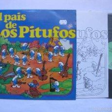 Discos de vinilo: LOS PITUFOS - RARE ORIG SPANISH LP - DIFFERENT PS - EL PAIS DE LOS PITUFOS - COMO NUEVO. Lote 60894299