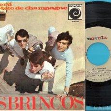 Discos de vinilo: BRINCOS, LOS: RENACERÁ / UN SORBITO DE CHAMPAGNE / GIULIETTA / TÚ EN MÍ. Lote 60901007