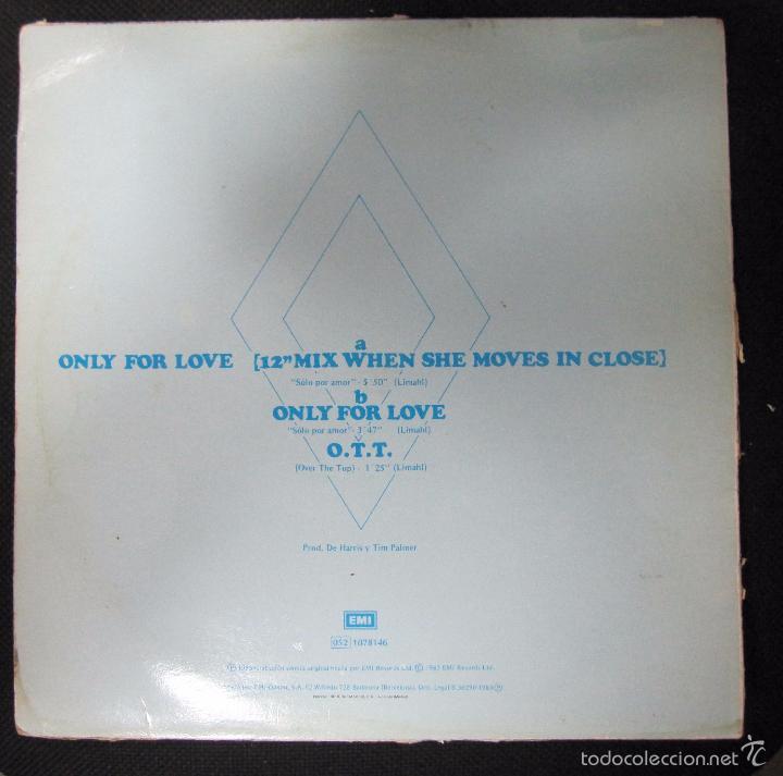 Discos de vinilo: MAXI SINGLE. LIMAHL. ONLY FOR LOVE. 1983 - Foto 2 - 60903207