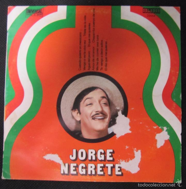 MAXI SINGLE. JORGE NEGRETE. (Música - Discos de Vinilo - Maxi Singles - Grupos y Solistas de latinoamérica)