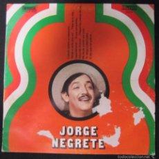 Discos de vinilo: MAXI SINGLE. JORGE NEGRETE. . Lote 60903515