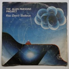 Discos de vinilo: THE ALAN PARSONS PROJECT - YOU DON'T BELIEVE - LUCIFER. Lote 60918983