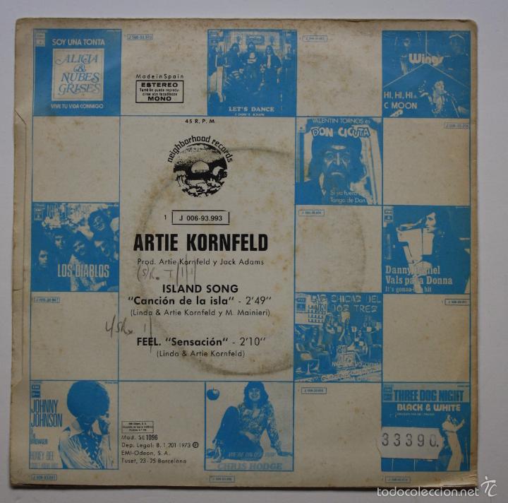 Discos de vinilo: ARTIE KORNFELD - ISLAND SONG - Foto 2 - 60919159