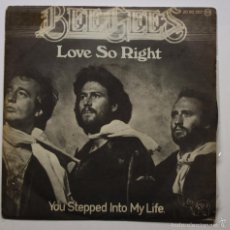 Discos de vinilo: THE BEE GEES - LOVE SO RIGHT. Lote 60937179