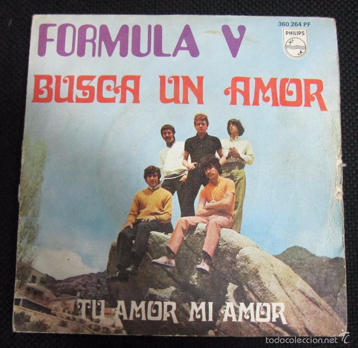 SINGLE. FORMULA V. BUSCA UN AMOR. TU AMOR MI AMOR. (Música - Discos - Singles Vinilo - Grupos Españoles de los 70 y 80)