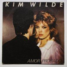 Discos de vinilo: KIM WILDE - CHEQUERED LOVE (AMOR APROBADO). Lote 60950475