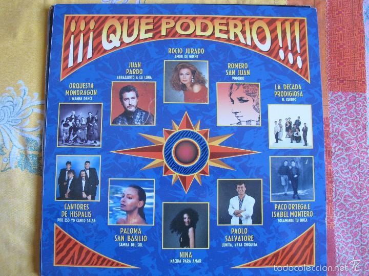 LP - QUE PODERIO - VARIOS (SPAIN, HISPAVOX 1989) VER FOTO ADJUNTA (Música - Discos - LP Vinilo - Solistas Españoles de los 70 a la actualidad)