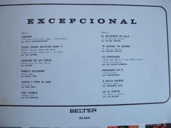 Discos de vinilo: LP - EXCEPCIONAL - VARIOS (SPAIN, BELTER 1970) VER FOTO ADJUNTA - Foto 2 - 60952119