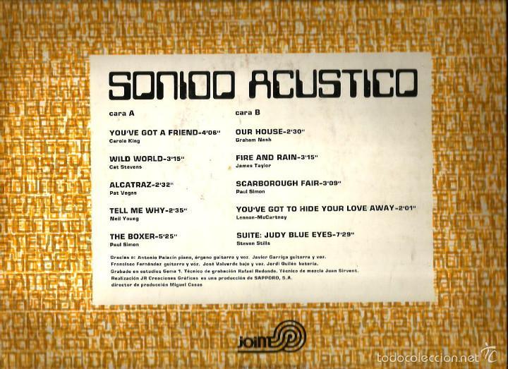 Discos de vinilo: LP SONIDO ACUSTICO ( GRUPO MI GENERACION ) TEMAS DE BEATLES, CAT STEVENS, STEPHEN STILLS, PAUL SIMON - Foto 2 - 60960671
