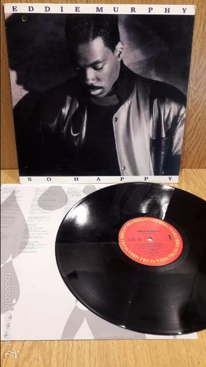 EDDIE MURPHY. SO HAPPY. LP / COLUMBIA - 1989 / MBC. ***/*** (Música - Discos - LP Vinilo - Funk, Soul y Black Music)